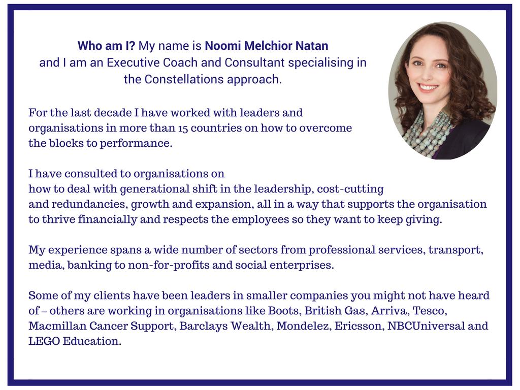 Noomi Melchior Natan Constellations Training